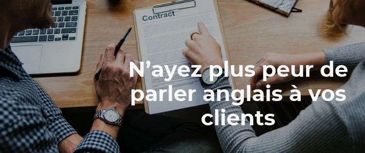 N'ayez plus peur de parler anglais à vos clients