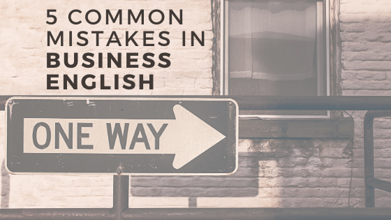 5 mistakes to avoid business English