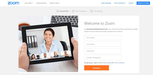 How to create a Zoom account